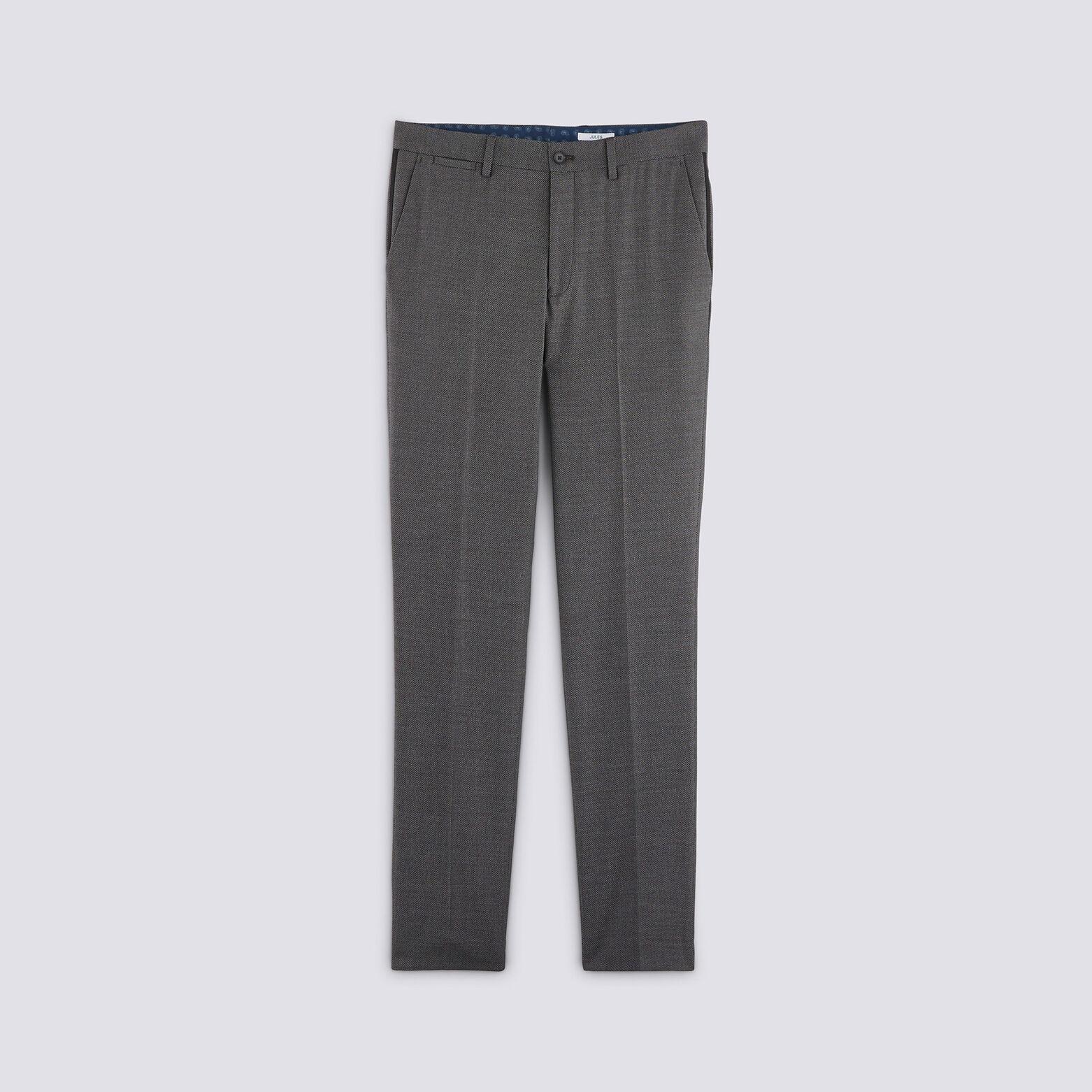 Pantalon de costume slim matière reliefée