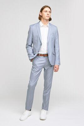 Ensemble de costume slim matière reliefée stretch - Bleu Ciel