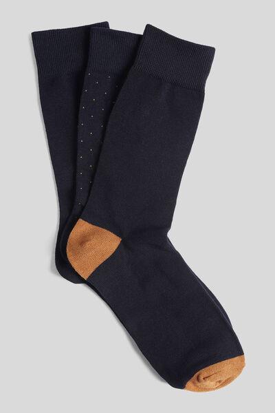 Lot de 3 paires de chaussettes coton issu de l'agr