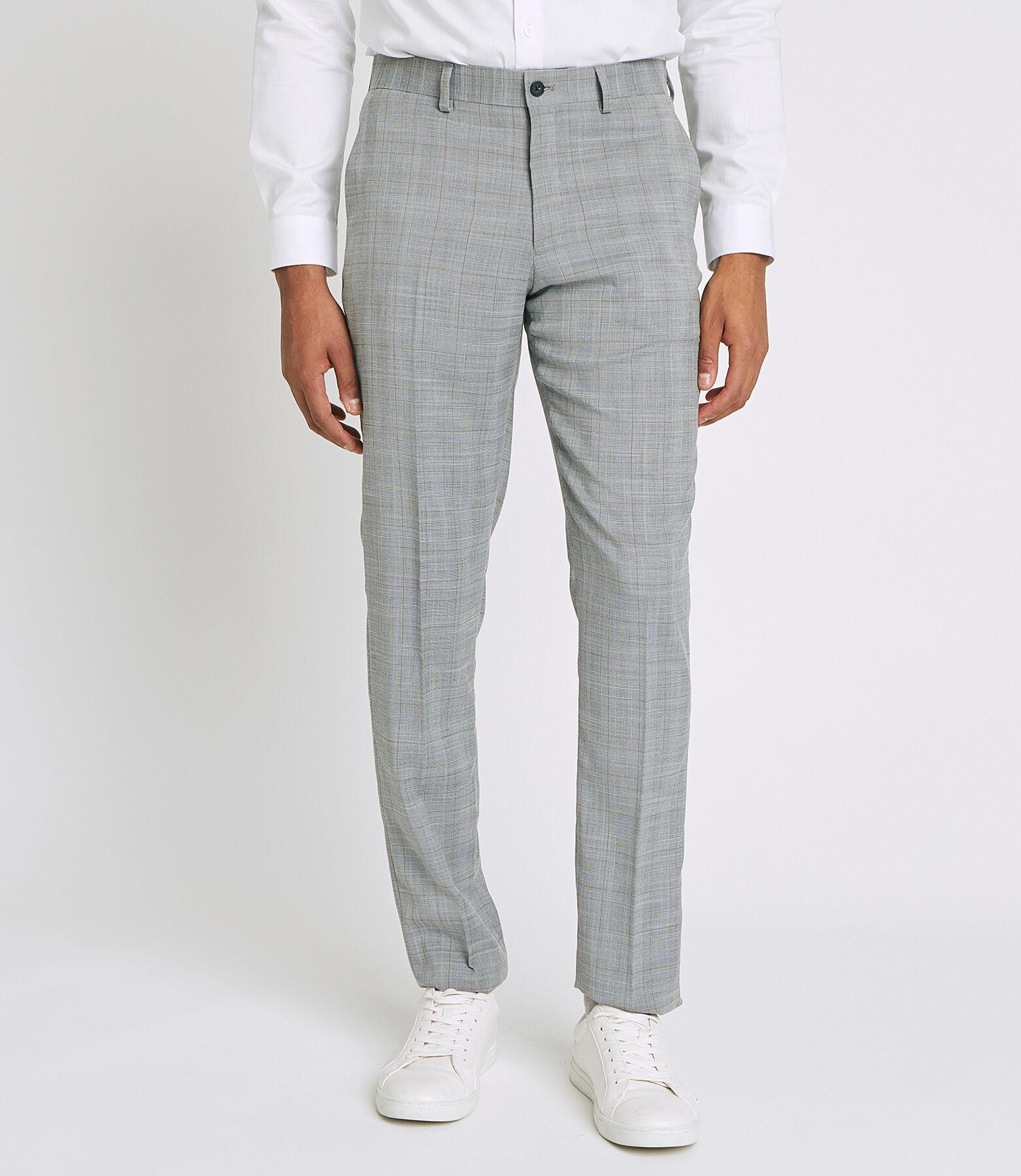 pantalon de Costume coupe Slim à carreaux prince d