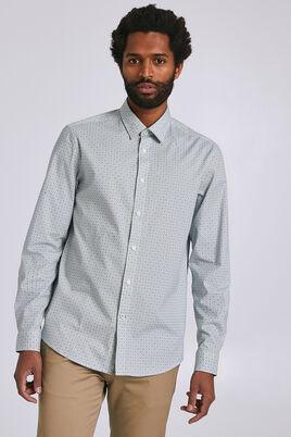 Regular hemd met geometrische print