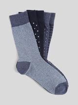 Lot de 5 paires de chaussettes détails imprimés