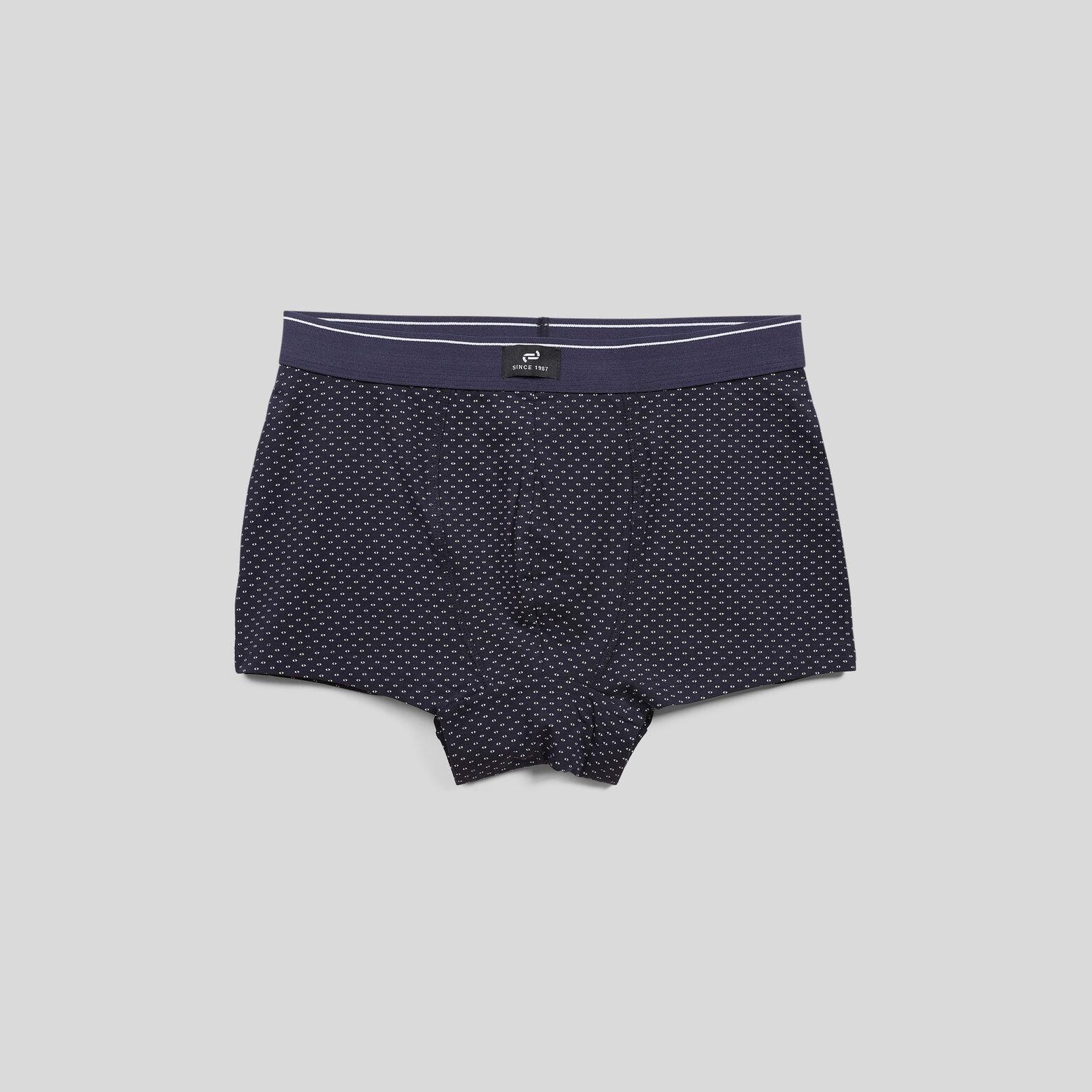 Lot de 5 boxers micro-motifs homme