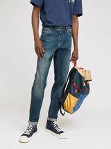 Ensemble look denim chemise jean