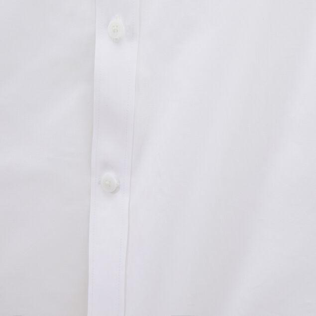 Chemise slim manches courtes uni coton