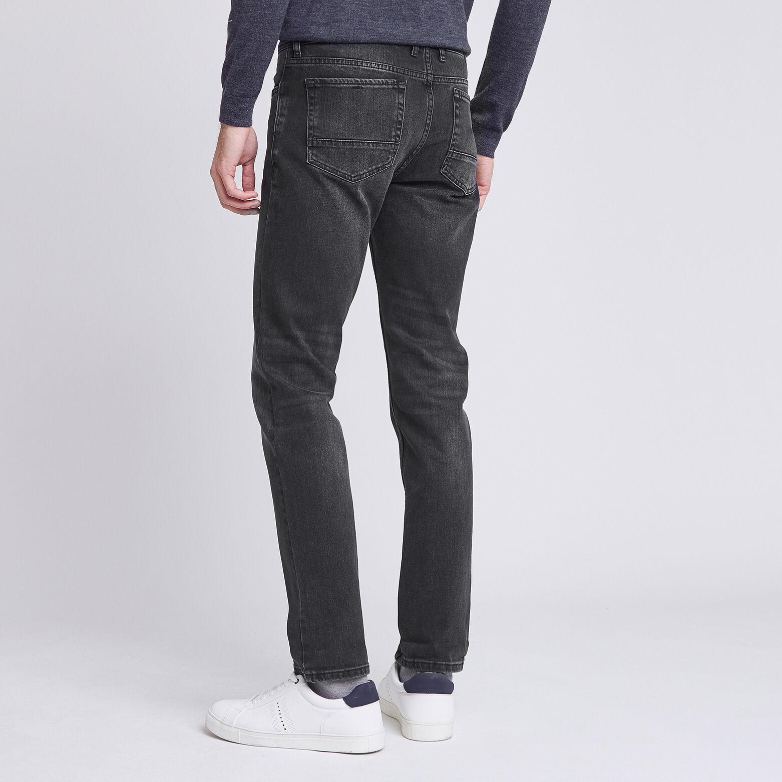 Jean straight #Ben 4 longueurs noir