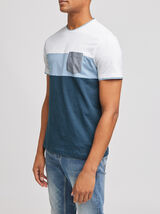 Tee-shirt colorblock  coton issu de l'agriculture