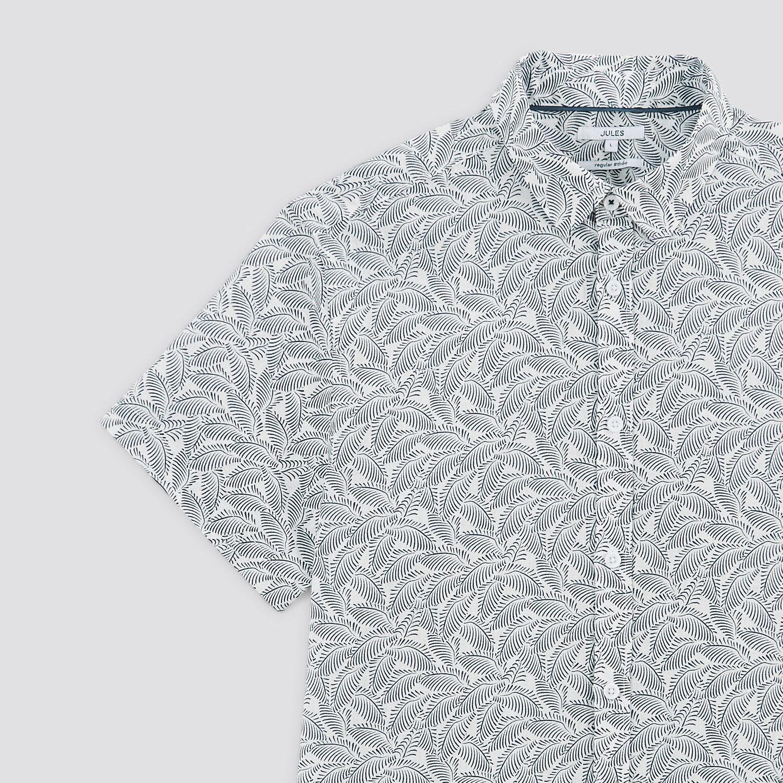 Chemise regular  manches courtes avec imprimé lin