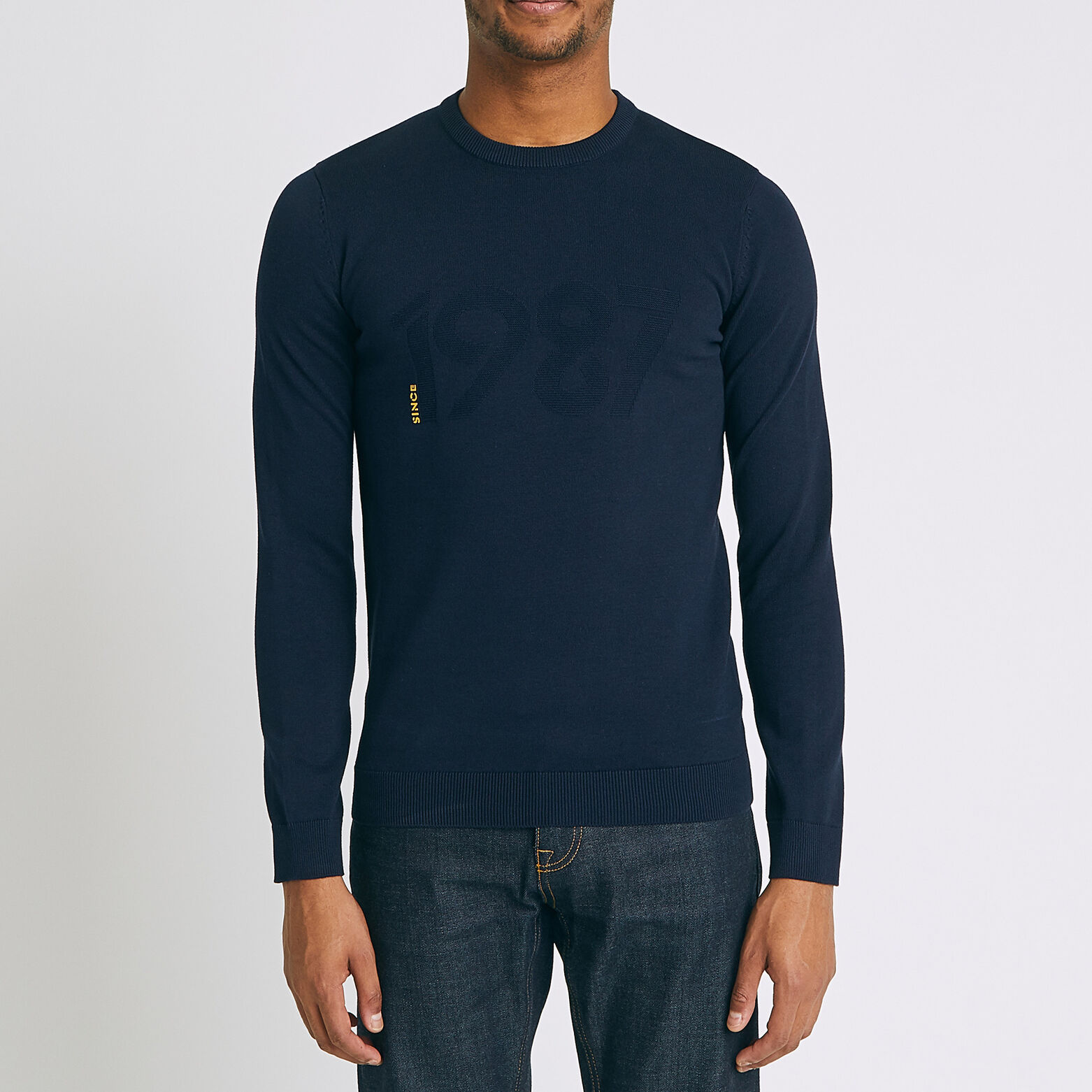 Pull Since 1987 maille fantaisie