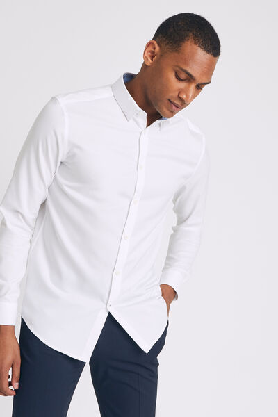 Chemise regular unie non iron coton