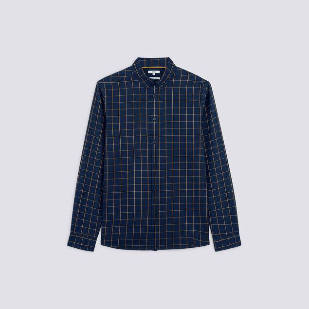 Chemise regular à carreaux coton