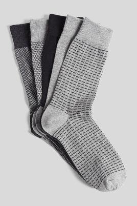 Chaussettes à imprimés géométriques par lot de 5
