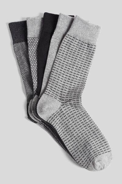 Set van 5 paar sokken met geometrische print