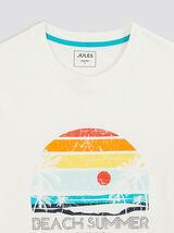 Tee-shirt imprimé placé coton issu de l'agri bio