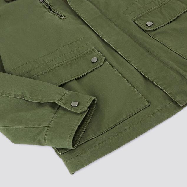 Veste esprit militaire coton et col chemise