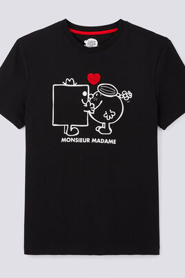 Tee shirt col rond Monsieur Madame