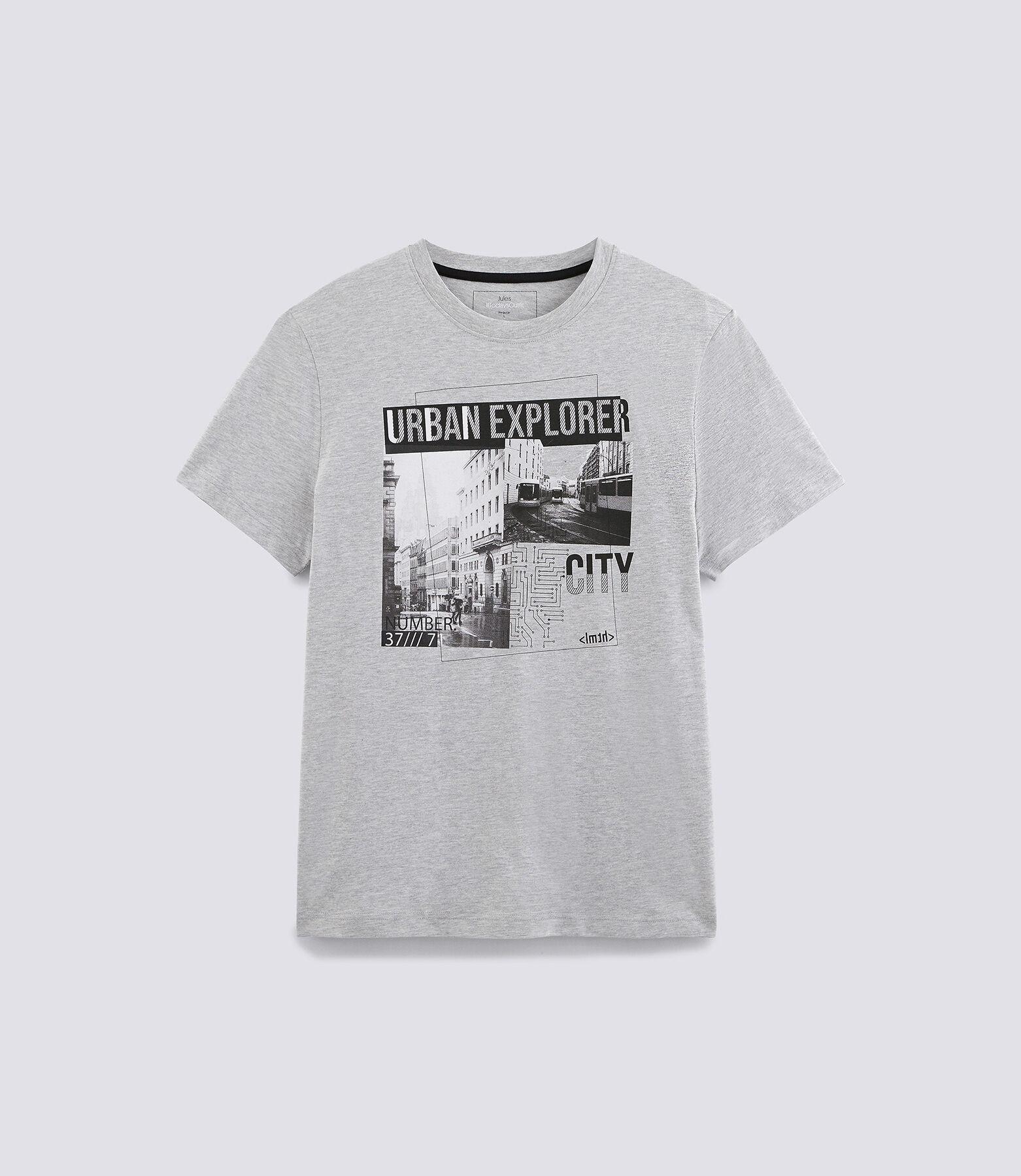 Tee-shirt photo print noir/blanc