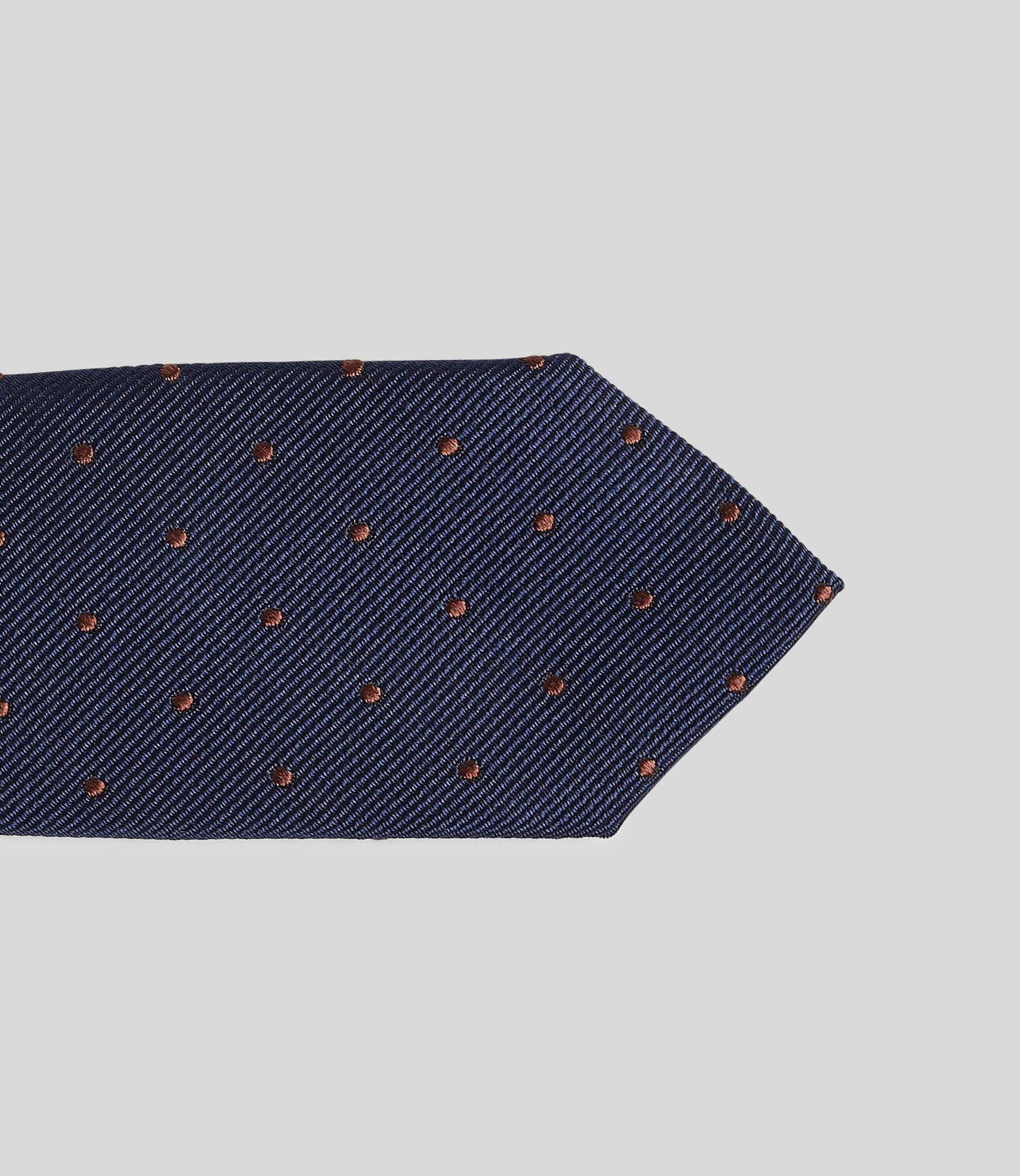 Cravate slim à pois