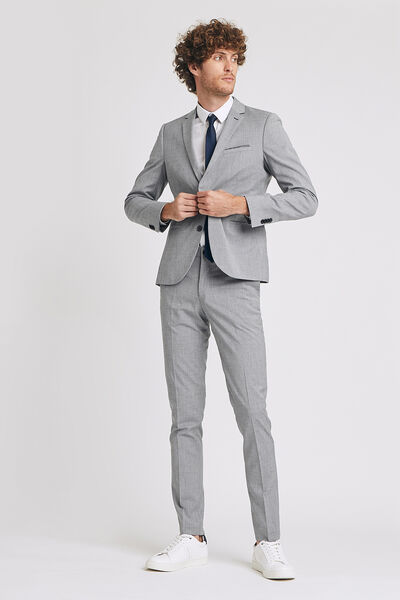 Ensemble de costume coupe extra slim - Gris Clair
