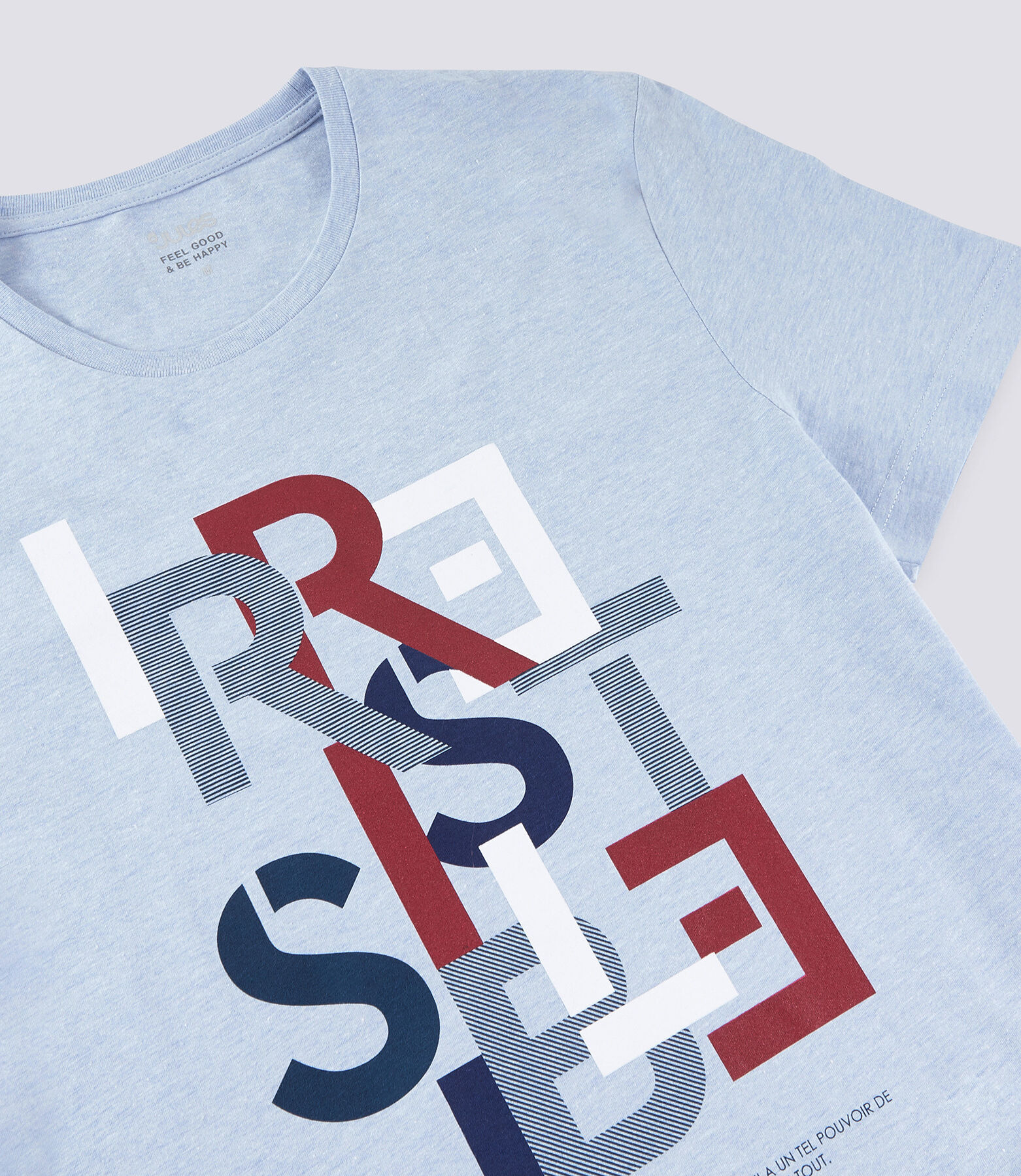 T-shirt met opdruk 'IRRESISTIBLE'