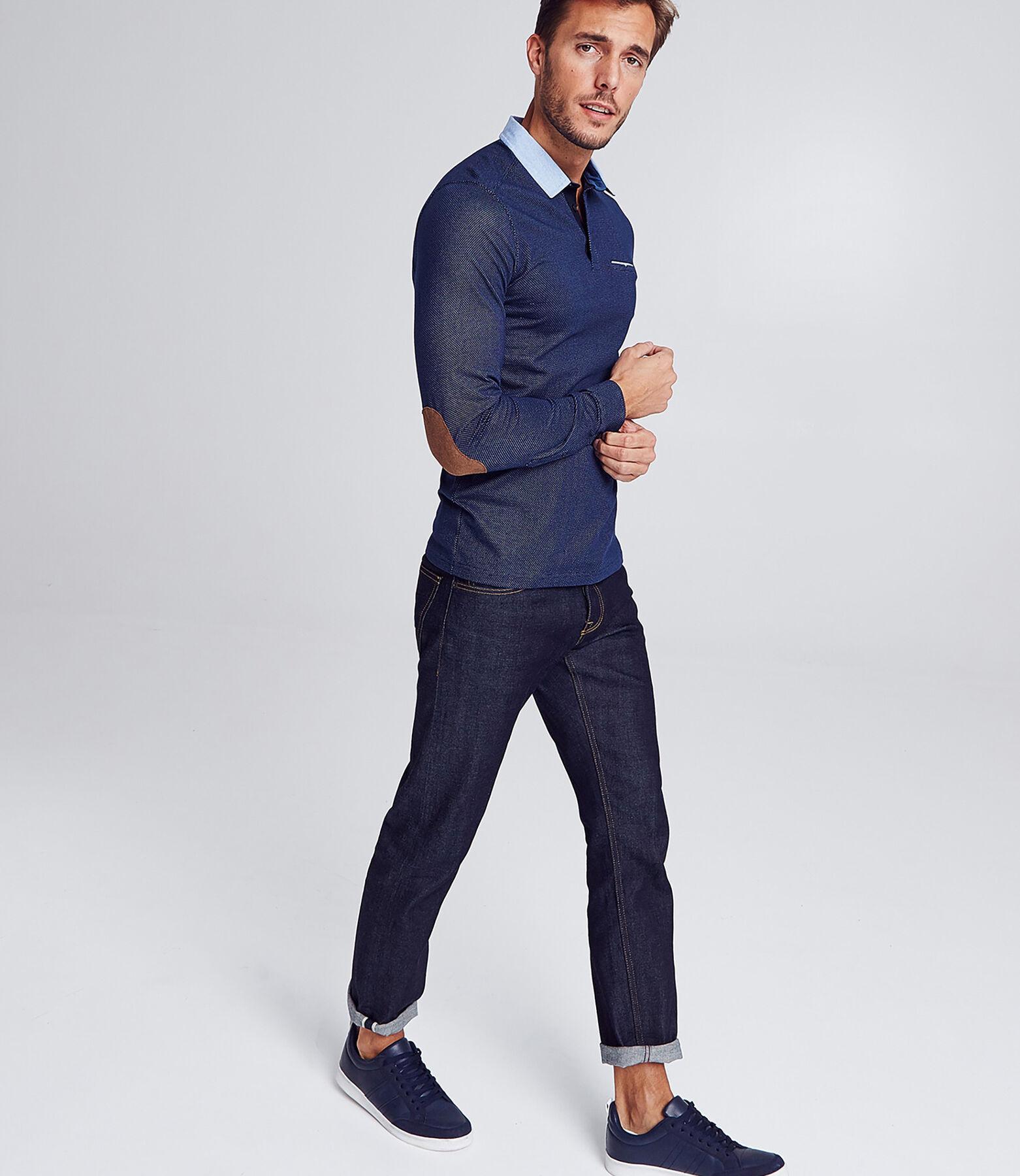 Polo manche longue col chemise