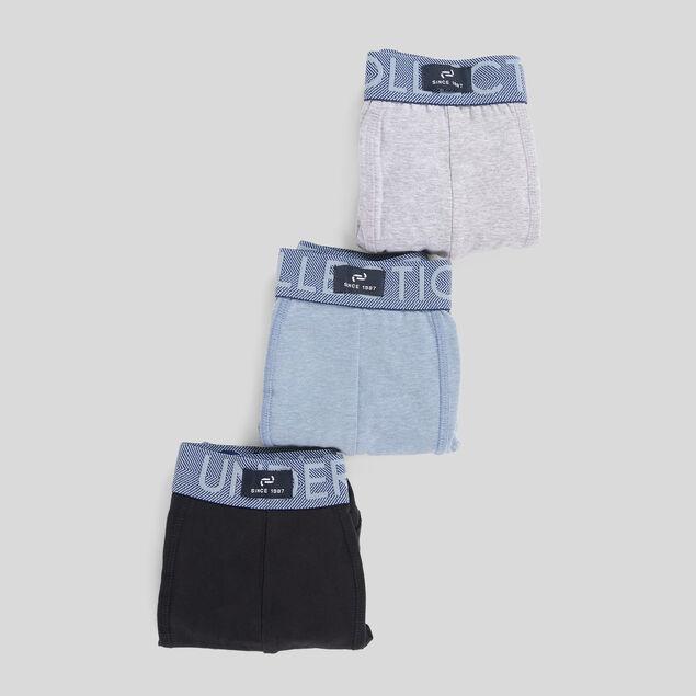 Lot de 3 boxers coton issu de l'agriculture biolog