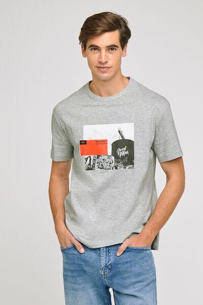 Tee-shirt imprimé poitrine