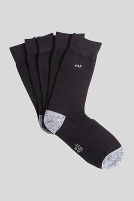 Chaussettes homme à talons pointes contrastés - Lo