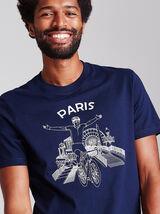 T-shirt rond thema 'fiets' met knipoog naar PARIJS