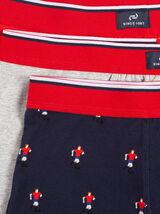 Lot de 3 boxers esprit football coton issu de l'ag