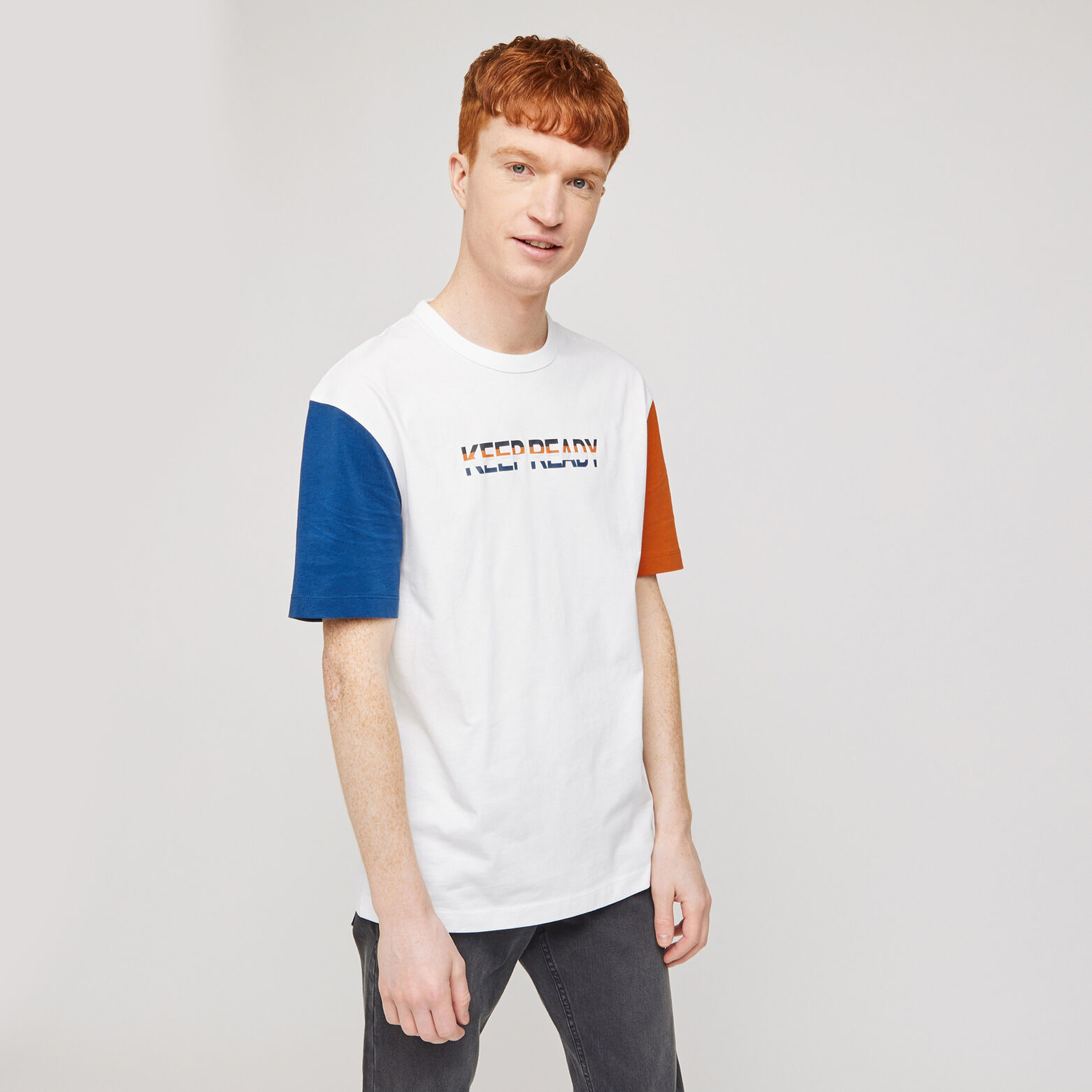 Tee-shirt colorblock print devant COOL FIT
