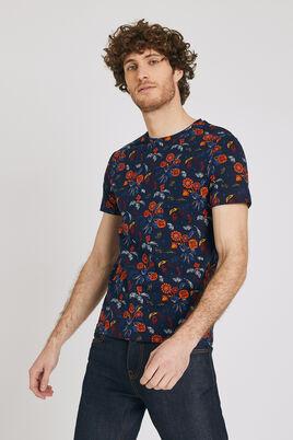 T-shirt met ronde hals, bloemenmotief