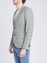Veste de costume à carreaux écossais
