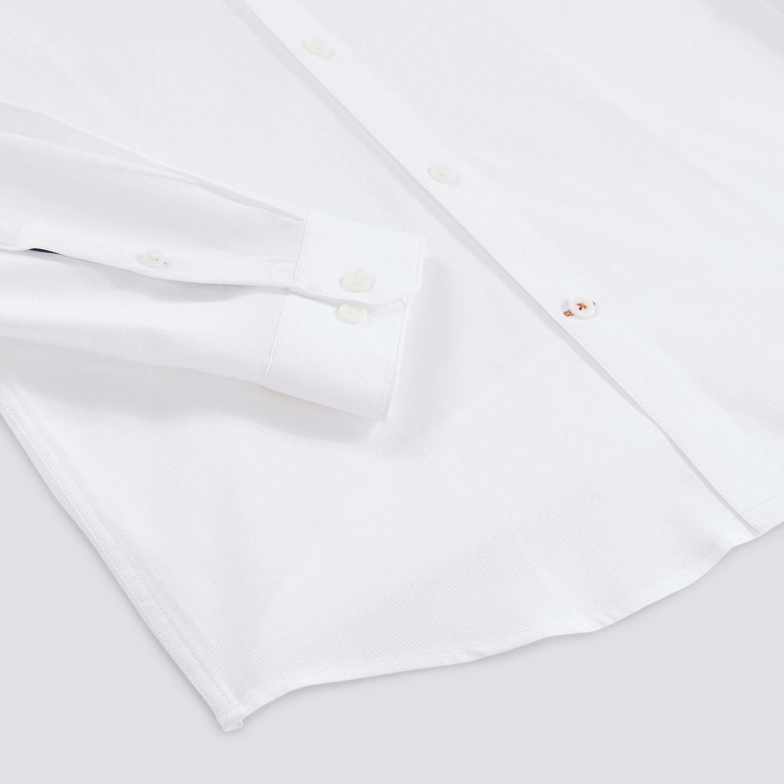Chemise slim motif faux-uni coton
