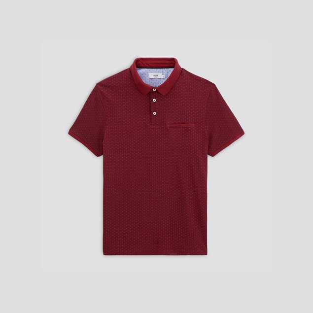 Polo manches courtes micromotifs
