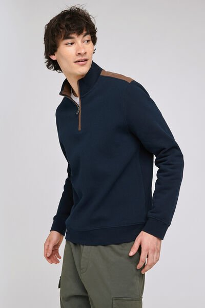 Sweat col montant maille quiltée