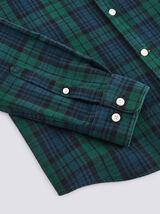 Chemise regular flanelle à carreaux