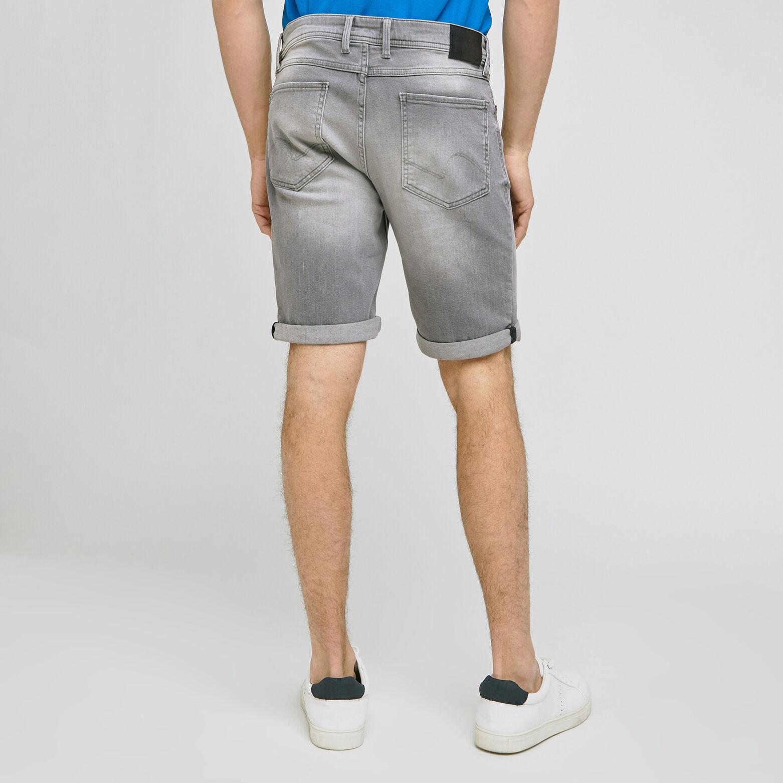 Bermuda 5 poches denim gris