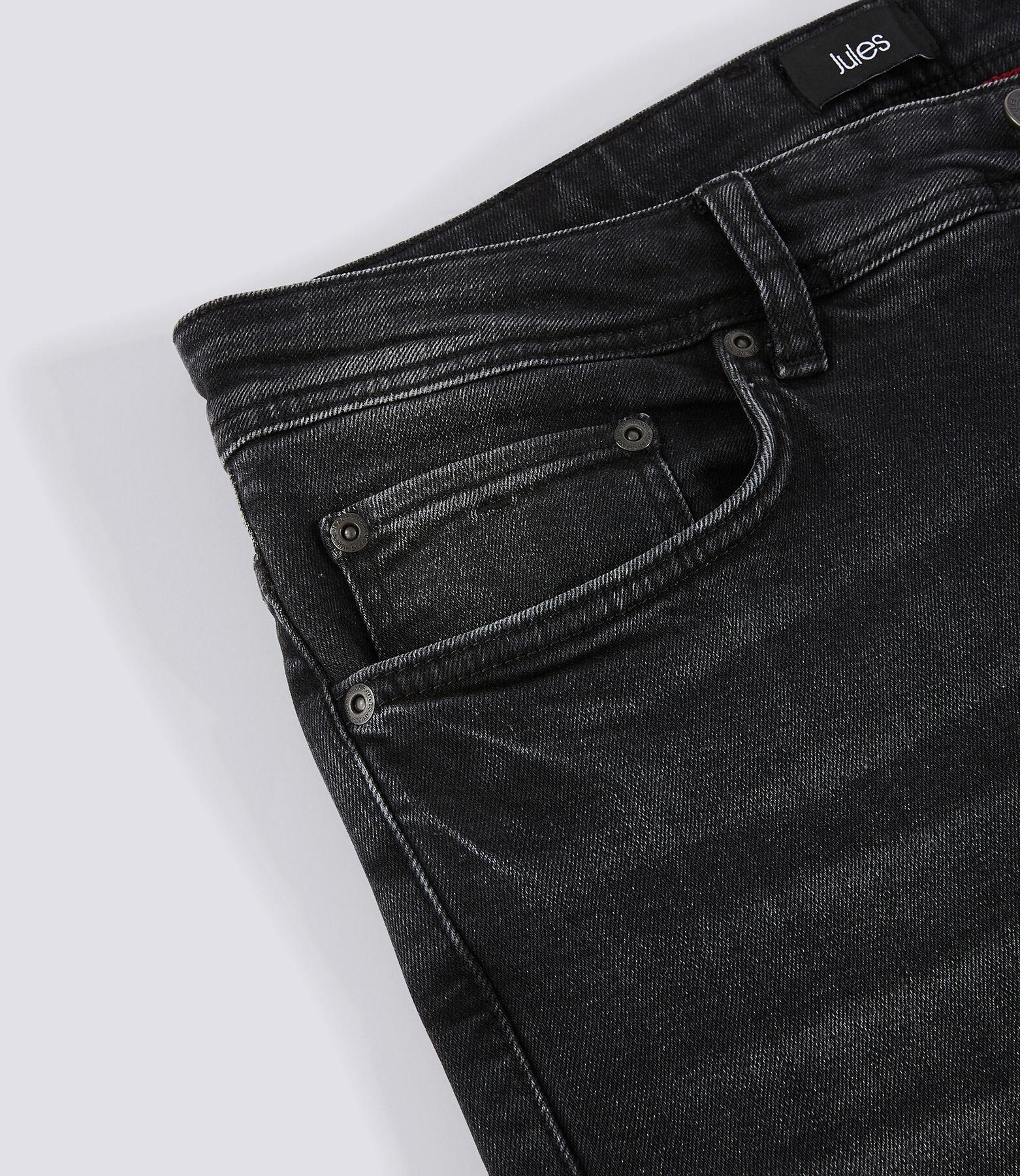 Jean straight 4L noir délavé