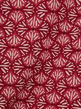 Chemise regular hwaïenne imprimé fantaisie coton