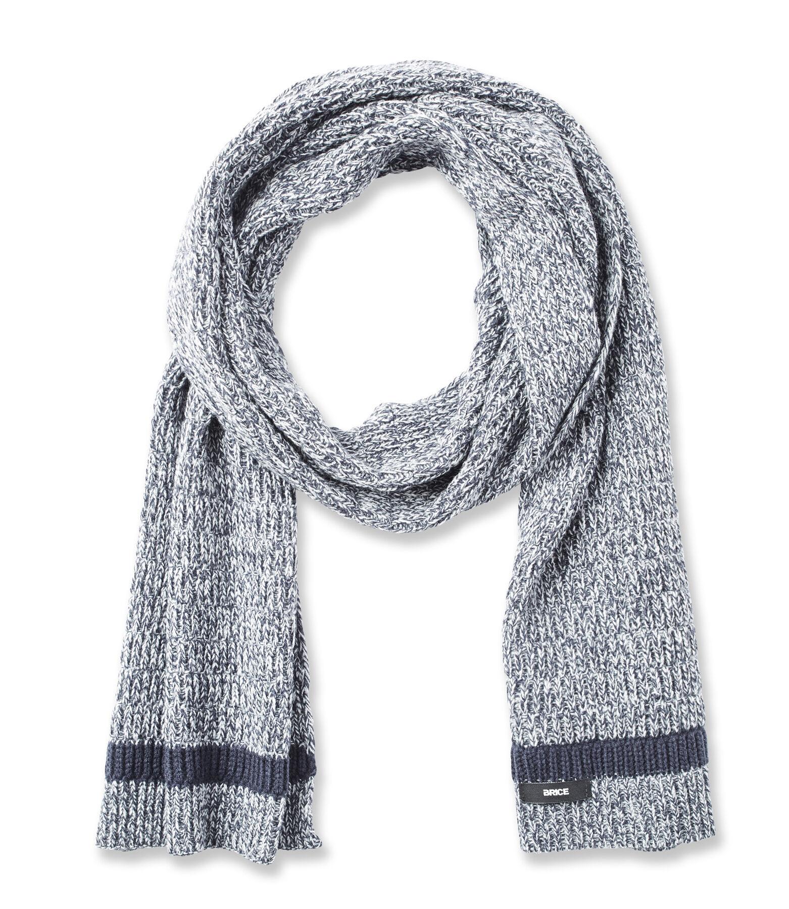 Tweekleurige sjaal in tricot