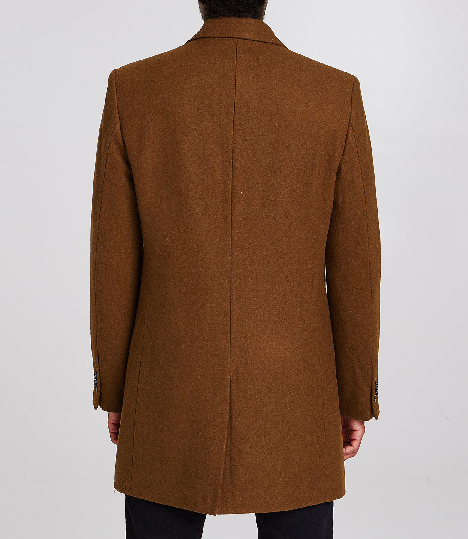 Manteau long col tailleur
