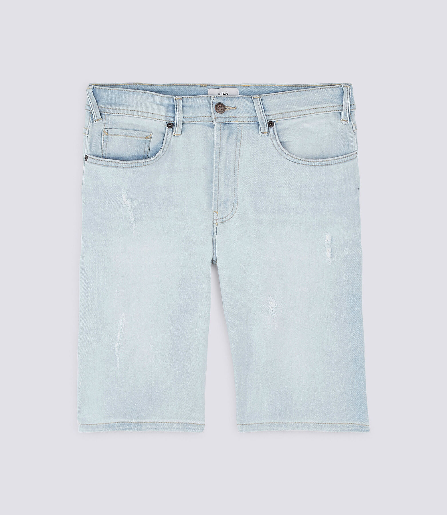 Bermuda  denim bleach destroy