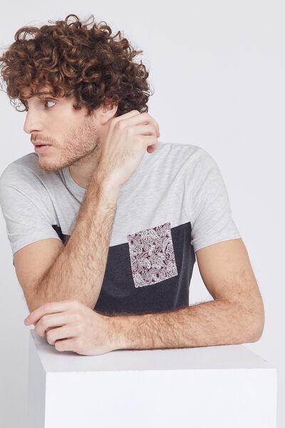"Tee-shirt poche imprimée ""in progress"""