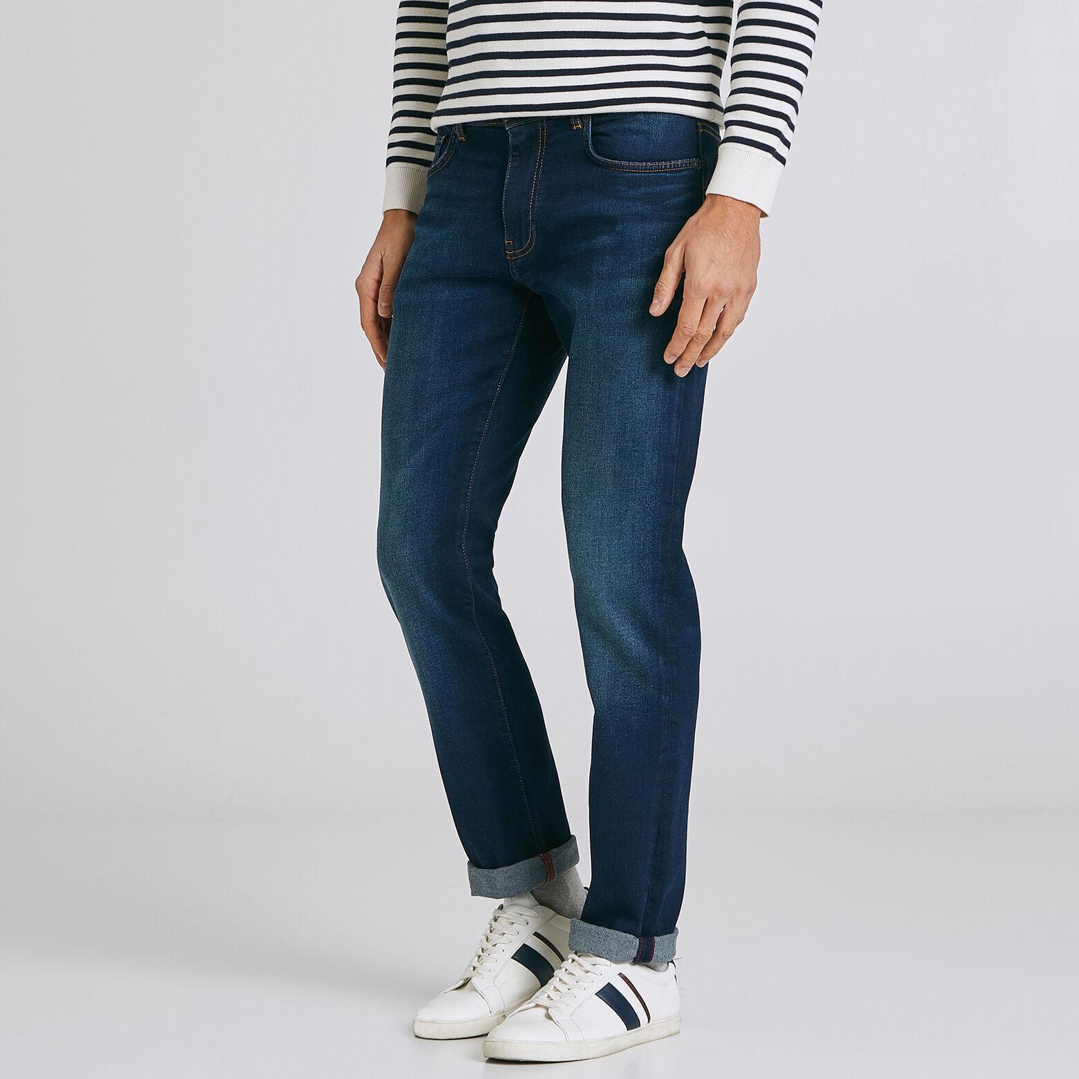 Ensemble look doudoune chemise jean