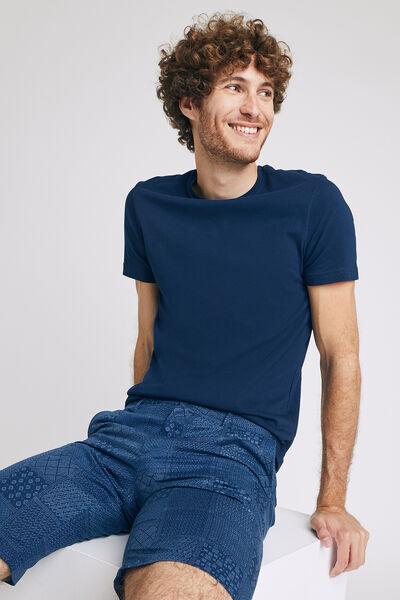Tee shirt homme uni à col rond