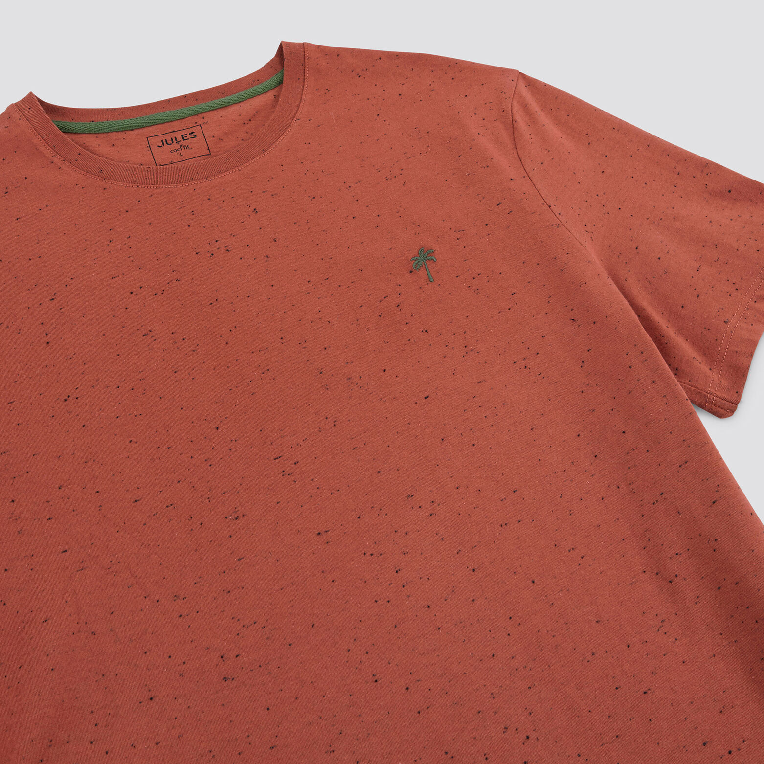 Tee-shirt neps broderie poitrine COOL FIT coton is