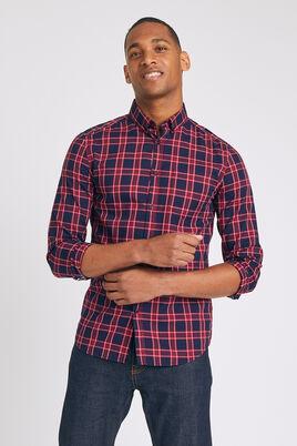 Chemise slim à carreaux pointe boutonnée