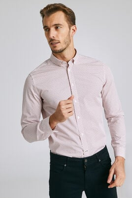 Chemise regular imprimée all-over