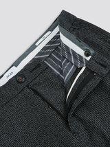 Pantalon chino slim faux uni